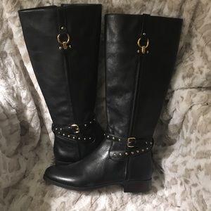 COACH Maddie Leather Boots Sz 9 Black